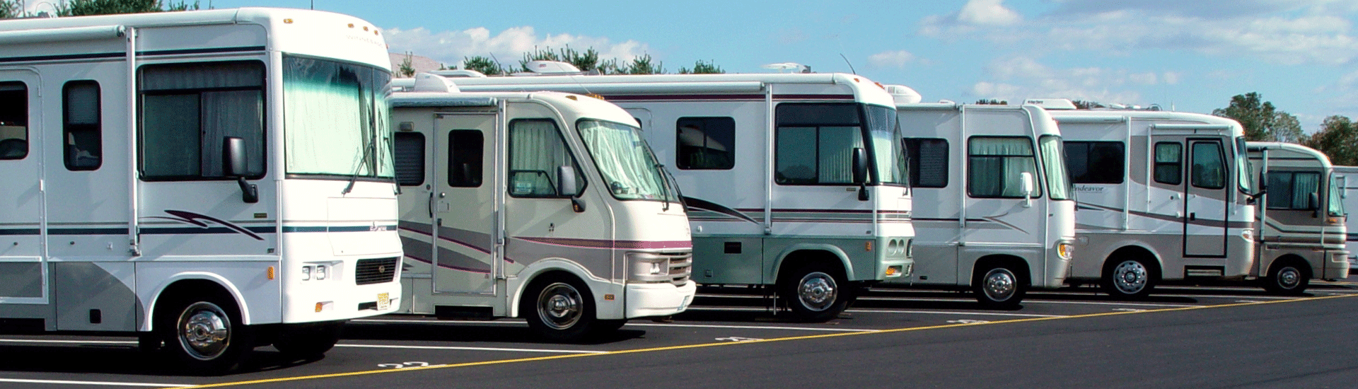 Recreational Vehicles on a Parking Lot